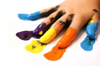 finger-painting
